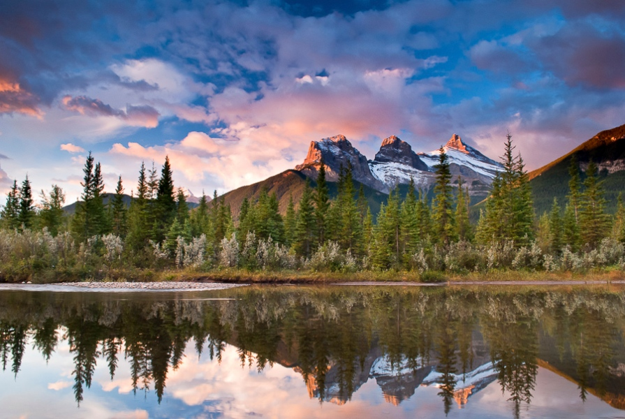 Three Sisters Sunrise, Canmore AB