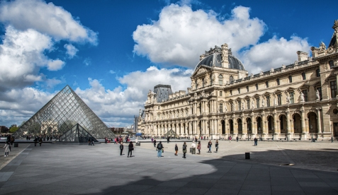 At the Louvre #1