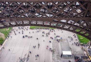 Eiffel Tower Tourists