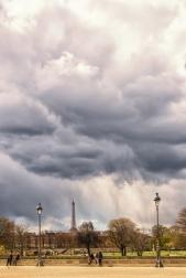 Rain Over the Eiffel Tower