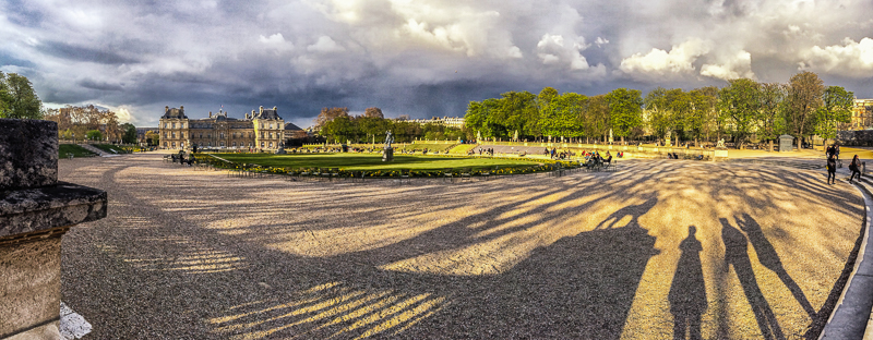 Selfie at the Luxembourg Gardens