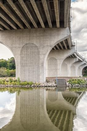 Bridge over the Fox River Appleton WI