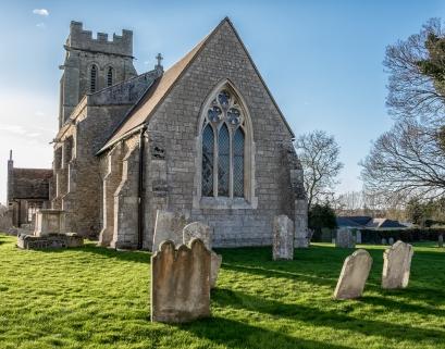 Church Yard in the Village of Bury UK