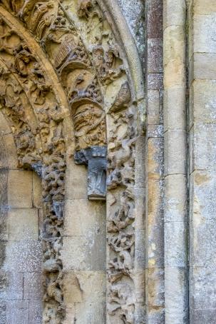 Glastonbury Abbey (detail)