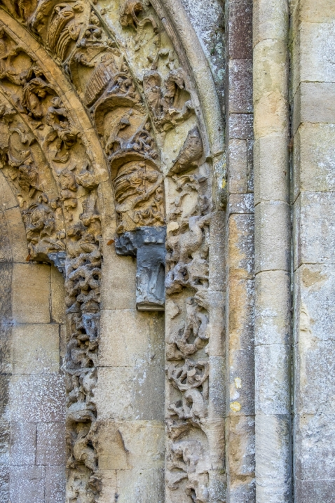 Glastonbury Abbey (detail)